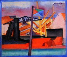 Tor Bjurström (Swedish, 1888 - 1966)  The Harbour, Copenhagen