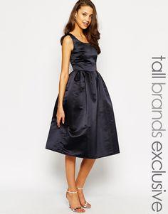 1dc3f01adbd True Decadence Tall Satin Midi Prom Dress