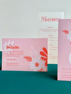 Designing artful wedding ephemera for design-loving couples. Homestead Ink offers custom wedding invitations and semi-custom stationery plus fun day-of extras. Quirky Wedding Invitations, Wedding Invitation Design, Wedding Stationery, Invites, Custom Stationery, Stationery Design, Booklet Design, Marca Personal, Boutique Design