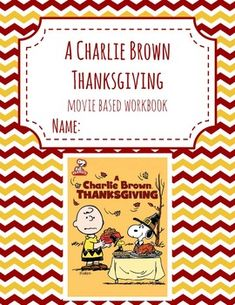 A Charlie Brown Thanksgiving Digital PDF Included Fun