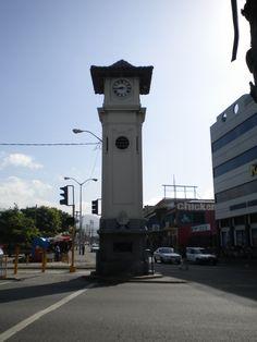 Half Way Tree clock tower, Kingston, Jamaica
