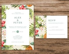Etsyで見つけた素敵な商品はここからチェック: https://www.etsy.com/jp/listing/238384761/tropical-wedding-invitation-hawaiian