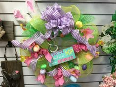 Easter mesh wreath by Andi at Silk Florals 2017
