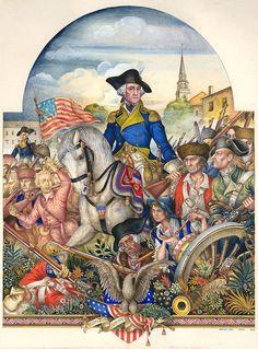 "by Arthur Szyk ""Washington the Soldier"" (1930)"