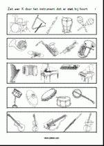 Muziekinstrumenten - Welk instrument hoort er niet bij nr.1