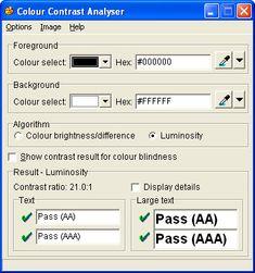 Colour contrast analyser