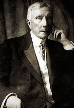 U.S. John D Rockefeller, an American Industrialist and philanthropist. Rockefeller revolutionized the petroleum industry, becoming the world's richest man and first U.S dollar billionaire - 1907