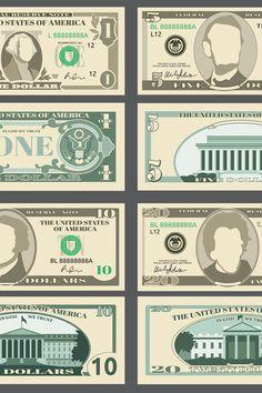 Play Money Template, Money Bill, Dollar, Illustrations, Trust God, Vector File, Design Bundles, Templates, Stencils