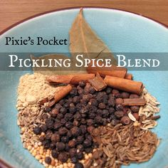 Pixie's Pocket teaches you how to make your own pickling spice blend for a sweet and savory mix to make your canning and fermentation recipes special. Make it how you like it, and enjoy the process. Homemade Spices, Homemade Seasonings, Homemade Wine, Fermentation Recipes, Canning Recipes, Canning Tips, Smoker Recipes, Spice Blends, Spice Mixes