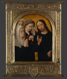 DAVID Gerard - Flemish (Oudewater 1460-1523 Bruges) ~ Christ Taking Leave of His Mother | possibly the right wing of a diptych, ca. 1500