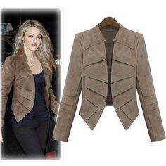 2014 new Autumn Women Jackets Suede leather coat women Suit blazer women  jaqueta de couro feminina plus size XXXL 3xl 4XL 5XL - http://www.styliate.me/http://www.styliate.com/products/2014-new-autumn-women-jackets-suede-leather-coat-women-suit-blazer-women-jaqueta-de-couro-feminina-plus-size-xxxl-3xl-4xl-5xl/