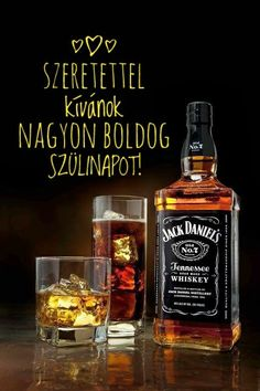Happy Brithday, Love Sms, Tennessee Whiskey, Name Day, Jack Daniels, Whiskey Bottle, Names, Scrapbook, Birthday
