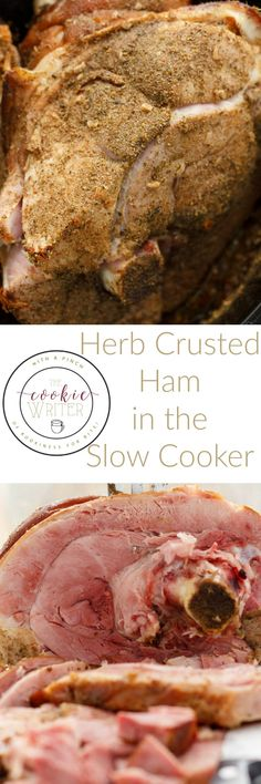 Nothing beats a quick, simple, midweek dinner, and this herb crusted ham in the slow cooker will surely knock your socks off! Perfect for Easter! Best Slow Cooker, Crock Pot Slow Cooker, Crock Pot Cooking, Slow Cooker Recipes, Crockpot Recipes, Easter Dinner Recipes, Holiday Recipes, Ham Recipes, Yummy Recipes