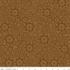 Bo Bunny - On the Go Flannel - Gears in Brown - fabric
