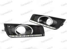 109.99$  Watch now - http://aliu7f.worldwells.pw/go.php?t=32701084747 - 1Pair Car Styling LED DRL Daytime Running Light Cover Fog Lights for Chevrolet Cruze 2011-2014