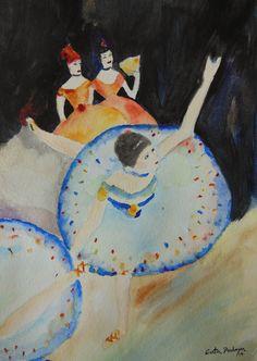 Watercolor paint  Ballerina