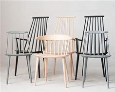 Hay Stühle Modell J104, 3 x Armlehnstuhl Modell J110 & 2 x Esszimmerstuhle Modell J77