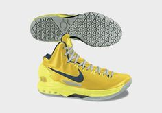 Kevin durant shoes 2013 KD V Tour Yellow Gold Grey
