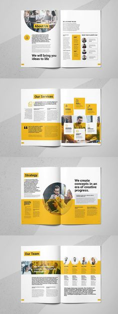 Design a stunning brochure in minutes. Get Brochure Design Services here. Showcase your business, products, and services when you create custom brochures. Broucher Design, Page Layout Design, Buch Design, Magazine Layout Design, Magazine Layouts, Graphic Design, Design Logo, Menu Design, Label Design