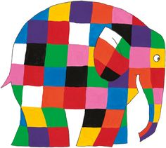 Elmer the Patchwork Elephant has his own website Elephant Quilt, Elephant Applique, Elephant Theme, Elephant Art, Elephant Crafts, Paul Klee, Elephant Template, Elmer The Elephants, Elephant Illustration