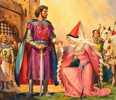 King Arthur and Queen Guinevere (Original) (Signed) art by James McConnell