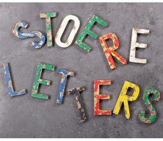 Voorbeeld van Vintage houten letter(s) handgemaakt Woood
