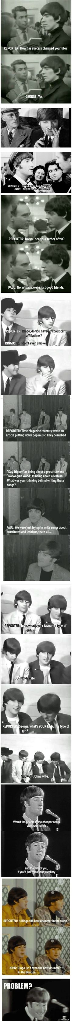 "Haha! ""Ringo isn't even the best drummer in the Beatles"" lol"