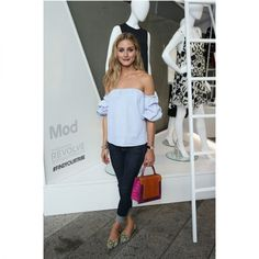 In A Joanna Ortiz Blouse, Frame Jeans And Dolce & Gabbana Flats - At the Stylewatch x Reolveparty, 2015