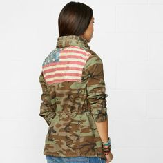 "Ralph Lauren Flag Field Jacket Originally $169.00. I got it for...""$56.99"" She Wins!!!"