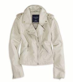 AE Vegan Leather Moto Jacket