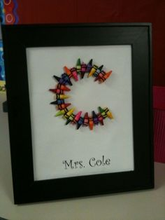 Crayon Art (Letter) crafts
