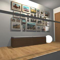Návrh moderní chodby s koláží obrázků.#interiordesign#coridor#modern# Photo Wall, Interior Design, Frame, Modern, Home Decor, Nest Design, Picture Frame, Photograph, Trendy Tree