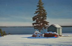 """David Vickery Path To The Shed   2016 oil on panel 13"""" x 20"""" $4,500http://www.dowlingwalsh.com/"""