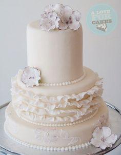 white cake #wedding