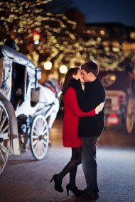 Chicago Christmas Engagement Session from Cristina G Photography - Style Me Pretty
