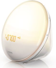 The latest model of the Philips Wake Up Light, a dawn simulator to help you naturally wake up in the morning.
