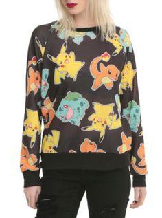 Pokemon Starters Girls Pullover Top