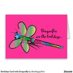 Birthday Card with Dragonfly