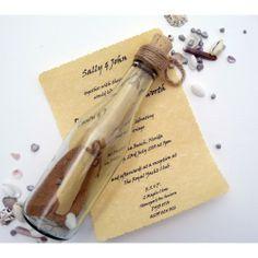 Mensaje en una botella invitación de la boda Ideas