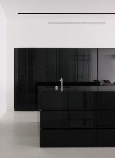 Boris Uborevich-Borovsky. Black countertops, and cupboards.