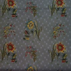 Yuwa Live Life Collection - Flowers in Taupe Grey Background - Made in Japan- Cotton-  Fat Quarter