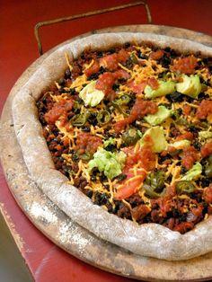 Vegan Stuffed Crust Mexican Pizza