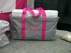 personalized thirty-one large utility tote with towels as a wedding gift!  mythirtyone.com/sherrilynn