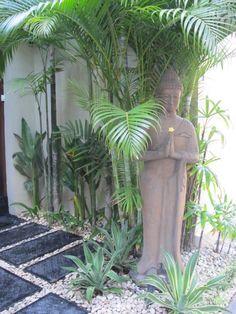 tropical bedroom inspiration pictures for running Bali Garden, Balinese Garden, Buddha Garden, Asian Garden, Garden Art, Front Yard Garden Design, Tropical Garden Design, Tropical Landscaping, Backyard Landscaping