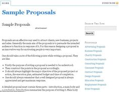 resource to write proposals with free sample proposal templates to download and print various proposal