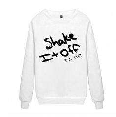 1989 shake it off sweatshirt for teens Taylor Swift sweatshirt