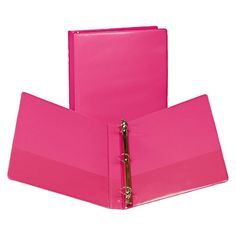 Samsill 1 Fashion View 3 Ring Binder, 11 x - Berry, Pink/Clear Berry, File Binder, File Folders, 3 Ring Binders, Paper Organization, Craft Storage, Extra Storage, Fashion Colours