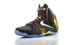 official photos a9e87 a30d5 2014 Newest Basketball shoes Cheap Lebron 11 Elite Gold Collection Black  White Metallic Gold Bright Mango 642846 002