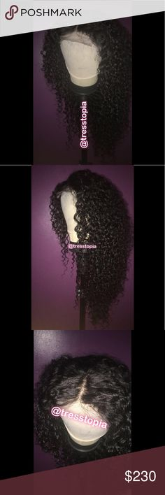 Peruvian Deep Curly Human Hair Wig -Handmade wig! Note: there may be sewing imperfections.  -16, 18, 20 and 4x4 Closure 14 (Free Part) -Natural shedding -Water wash ONLY for long lasting curls -Human Hair 3 Bundles With Closure Peruvian Deep Curly Hair Weave Bundles Free Part Lace Closure With Baby Hair Remy Hair. Other