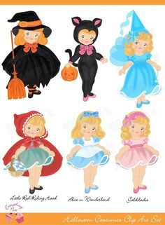 Costume Party 2 Clip Art Set by 1EverythingNice on Etsy, $5.00